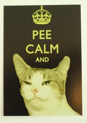 Pee calm and poo -kortti, 2e