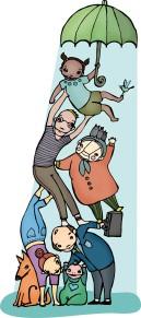 Illustration for Kirkkotie magazine